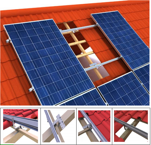 Factory Price Solar Bracket Pitched Roof Solar Mounting